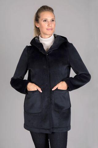 cappotto corto blu cappuccio Angelico