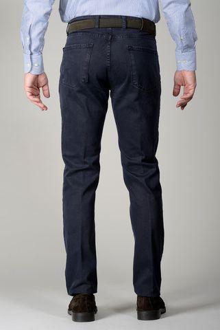 Pantalone blu 5 tasche twill slim Angelico