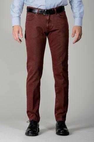 Pantalone vinaccia 5 tasche twill slim Angelico