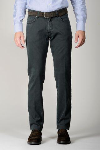 Pantalone verdone 5 tasche twill slim Angelico