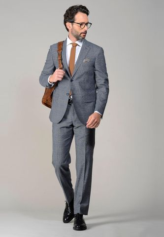 light grey suit  price of wales Angelico