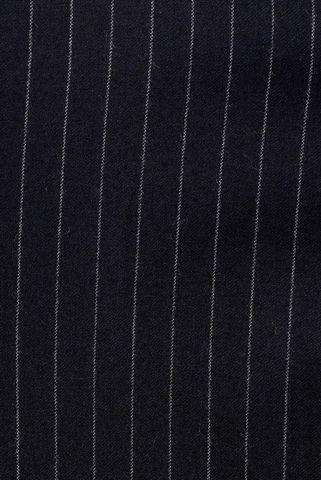 abito gessato blu largo flanella Angelico