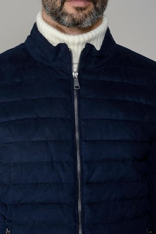 navy padded sport jacket Angelico
