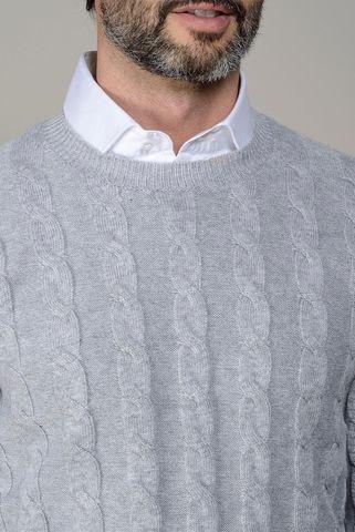 girocollo perla trecce lana-cashmere Angelico