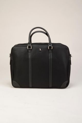 drummed black briefcase Angelico