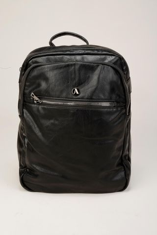 black backpack 3 compartments Angelico