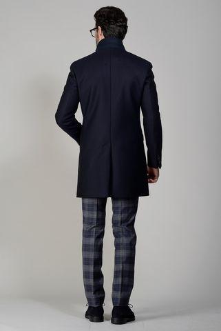 cappotto blu lana con pettorina Angelico