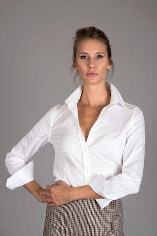 camicia bianca elasticizzata Angelico
