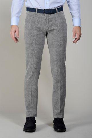 pantalone grigio fustagno diagonale slim Angelico
