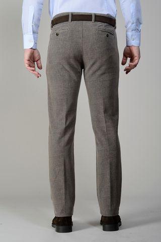 pantalone fango fustagno stampa diagonale slim Angelico