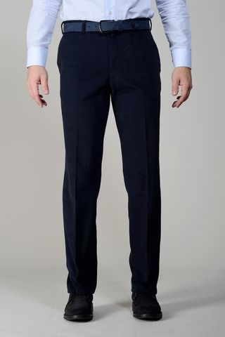 pantalone blu gabardina manopesca comoda Angelico