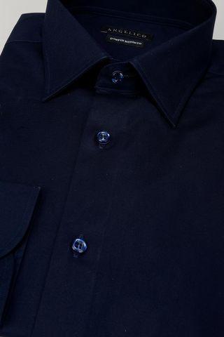 camicia blu elasticizzata doppio ritorto Angelico