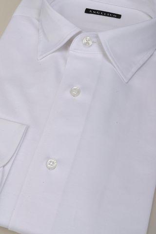 camicia bianca piquè liscio Angelico