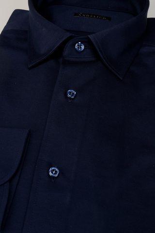 camicia blu piquè liscio Angelico