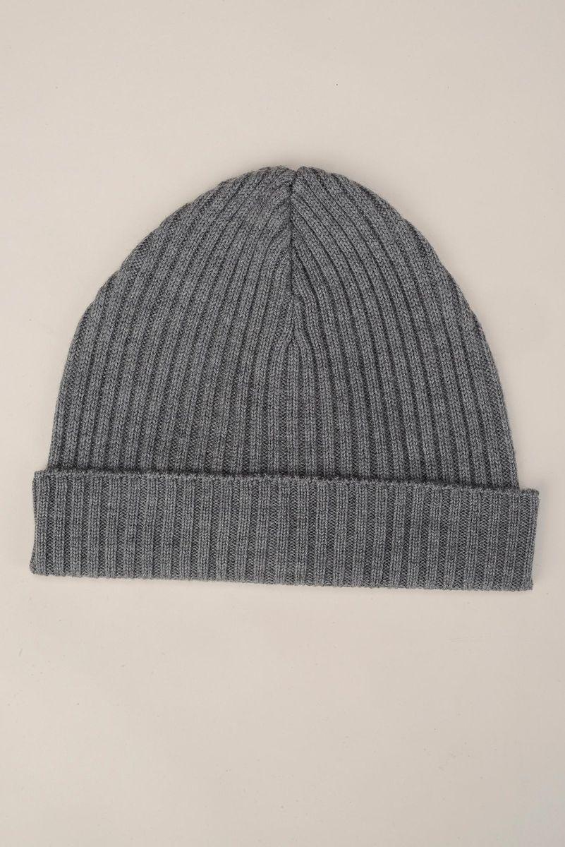grey beanie merino wool Angelico