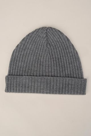 grey beanie merino wool Angelico