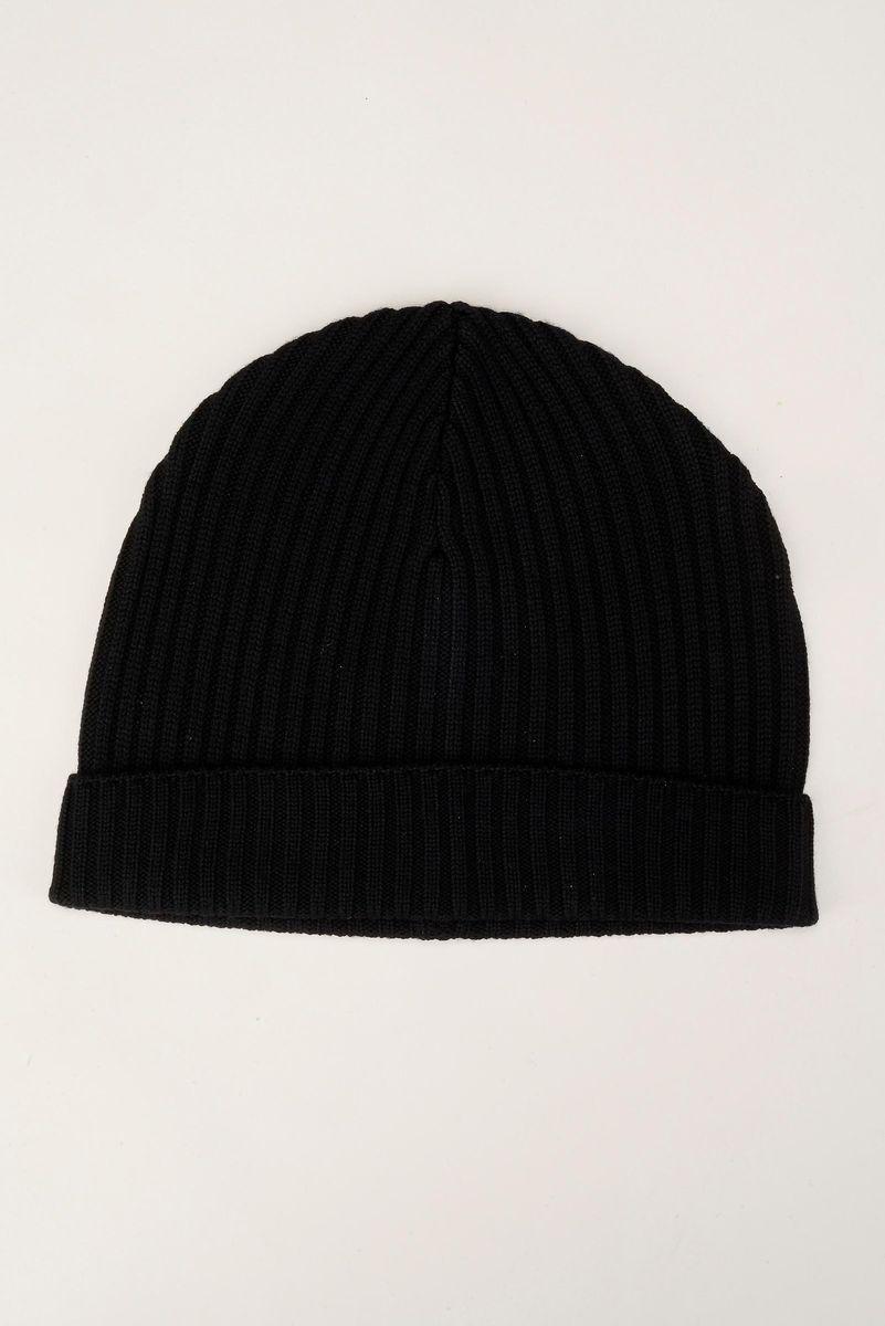 black beanie merino wool Angelico