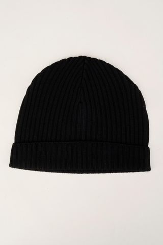 black beanie merino wool Angelico
