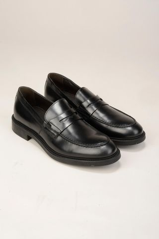 black cowleather moccasin Angelico