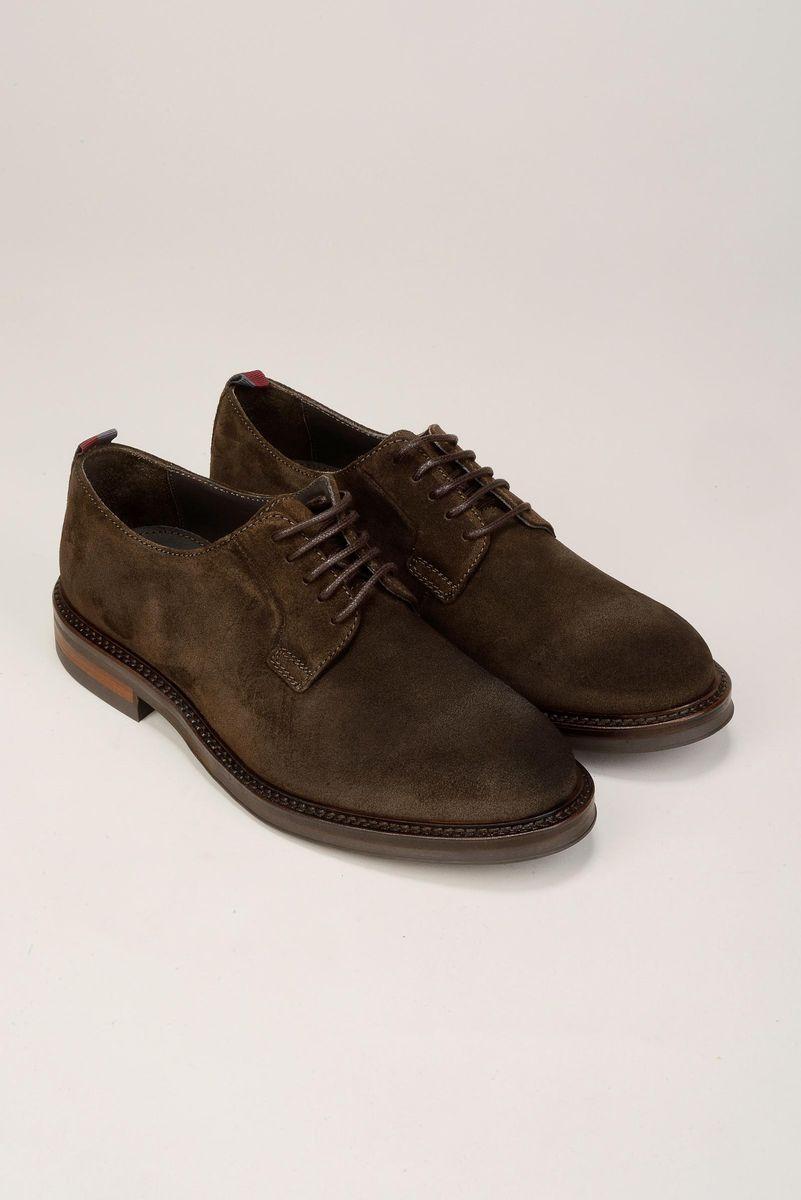scarpa marrone scamosciata derby Angelico