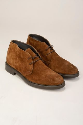 brown suede ankle boot Angelico