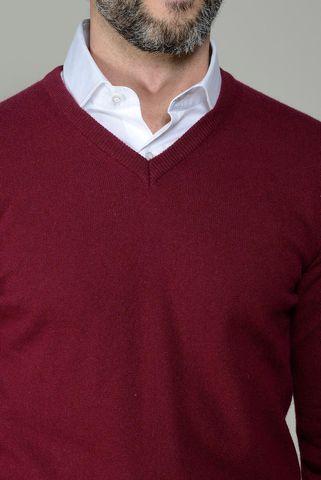 maglia v vinaccia lana-cashmere Angelico