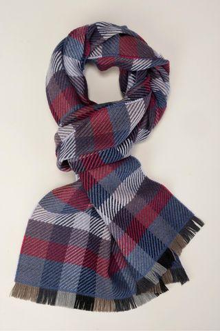 sciarpa scozzese grigia e diagonali rossi Angelico