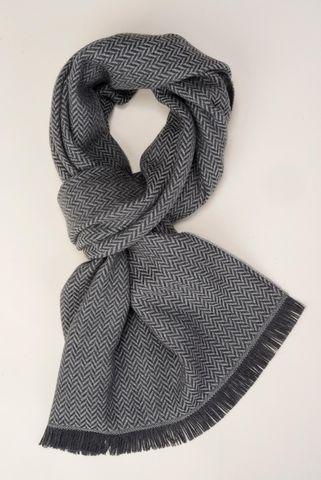 Sciarpa grigio-antracite resca lana Angelico