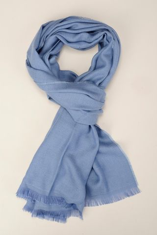 Sciarpa azzurro scuro lana-cashmere Angelico