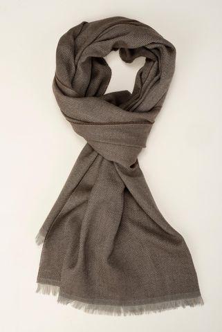 sciarpa marrone lana cashmere Angelico