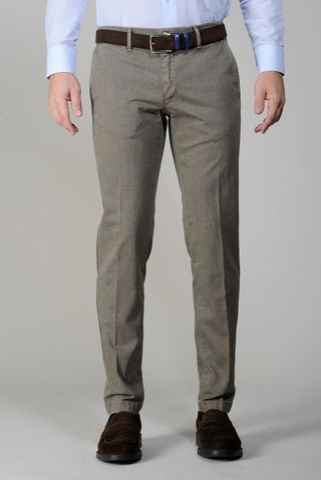 Pantalone tortora effetto jeans slim Angelico