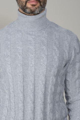 dolcevita grigio chiaro trecce lana-cashmere Angelico