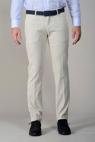 pantalone velluto panna millerighe slim Angelico