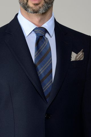 abito blu flanella lana100s Angelico
