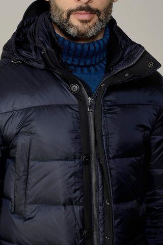 blue hooded long duvet Angelico
