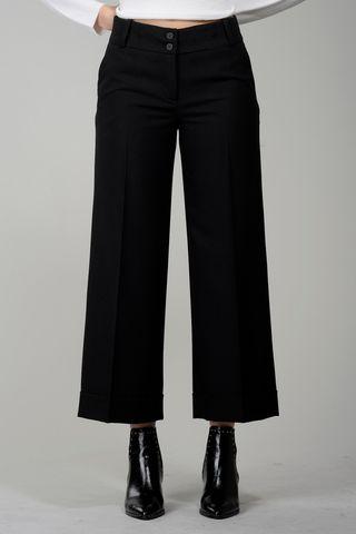 pantalone nero cropped Angelico