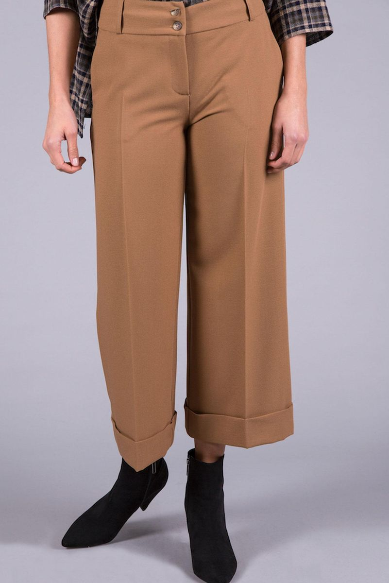 camel cropped trousers Angelico