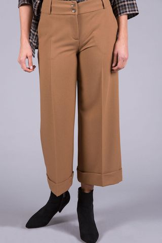 Pantalone cammello cropped Angelico