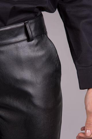 pantalone nero ecopelle trombetta Angelico