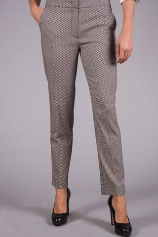 white trousers red-black micropattern Angelico