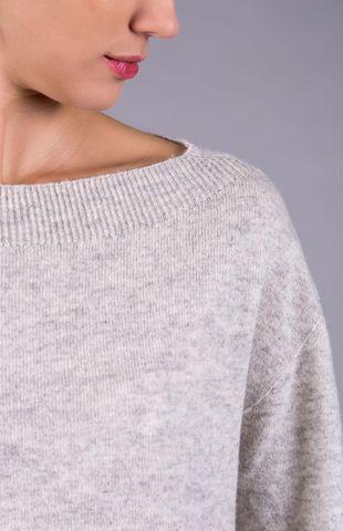 maglia grigia puro cashmere barchetta Angelico