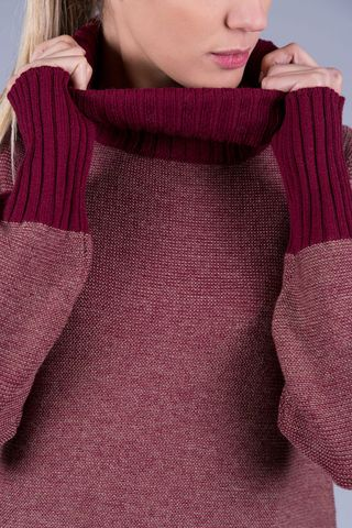 burgundy melange turtleneck merino's Angelico