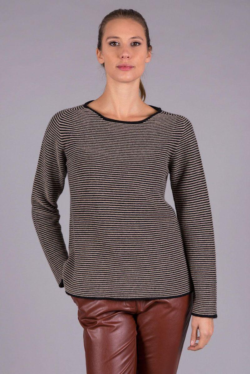 maglia nera-beige rigata lurex Angelico