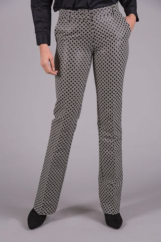 Black-white geometric flared trousers Angelico