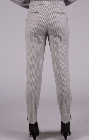 pantalone grigio bianco quadretto Angelico