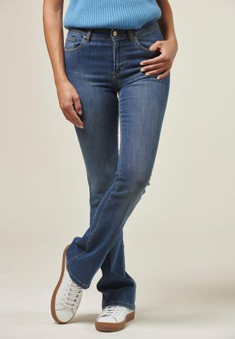 blue boot stretch jeans Angelico