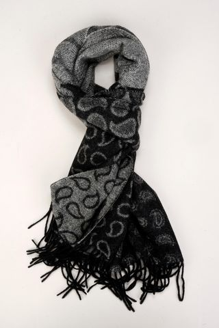 black-grey scarf drops pattern Angelico