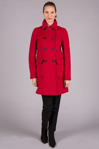 red doublebreasted coat wool-cashmere Angelico