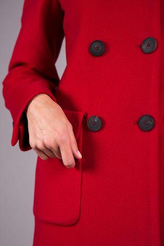 cappotto rosso doppiopetto lana-cashmere Angelico