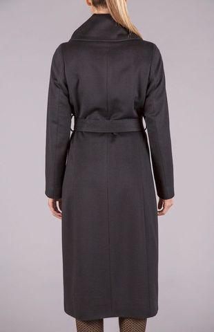 cappotto nero lungo tessuto piacenza Angelico